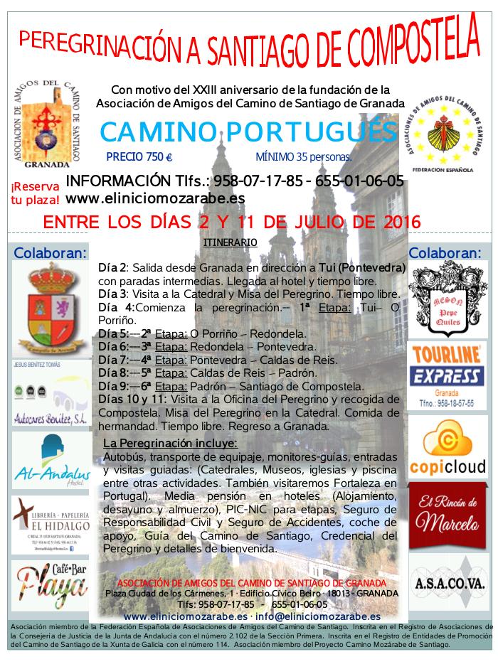 Cartel web Peregrinación Camino Portugués 2016