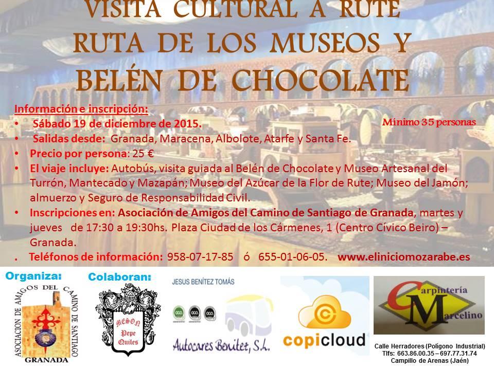 VISITA CULTURAL A RUTE, RUTA DE LOS MUSEOS Y BELEN DE CHOCOLATE - 2015 GRANADA